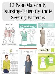 Indie Sewing Patterns Delectable 48 NonMaternity NursingFriendly Indie Sewing Patterns