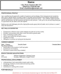 Security Guard Resume Examples Resume Templates