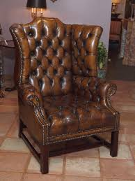 leather tufted wingback chair best desk chair for back pain