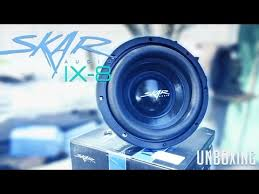 vote no on skar audio ix subwoofers slamming in a skar audio ix 8 subwoofer unboxing