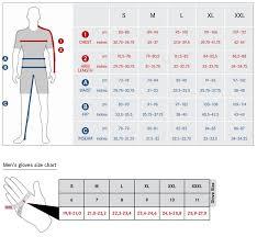 Wear Size Chart Gore Size Guide