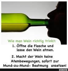 Wie Man Wein Richtig Trinkt Lustige Bilder Sprüche Witze Echt