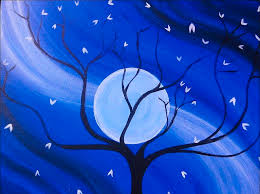 moon painting full moonlit night by charles jennison