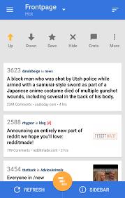 Reddit News Pro Android Lollipop App Material Design Listing