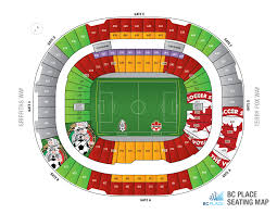 Bc Place Seating Chart Additional Upper Bowl Seats Opened For Canada V Mexico At Bc