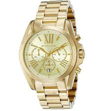 mk michael kors oversized bradshaw mk5605 all gold stainless steel strap watch for men