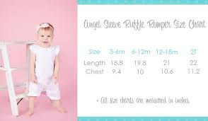 Arb Girls Ruffle Romper Arb Product Size Charts