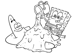 Small Picture Patrick Star Coloring Pages Simple Spongebob Coloring Pages