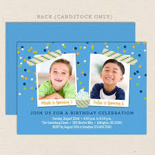 Birthday Invitations Boy Joint Birthday Party Invitations Lil Sprout Greetings