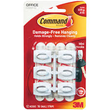 command medium designer hooks brushed nickel 4 hooks 6 strips holds 3 lb com