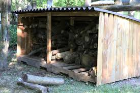 learn how to make an outdoor firewood storage unit