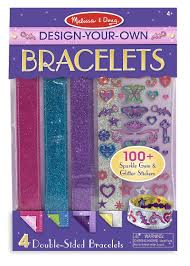 Melissa And Doug Decorate Your Own Jewelry Box Amazon Melissa Doug DesignYourOwn Bracelets With 100 53