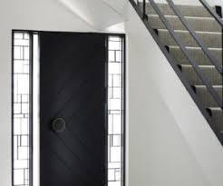 black front doorModern Front Door Interior Single Black Door With Silver Steel