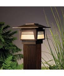 Kichler  Zen Garden  Light Outdoor Pier Lamp Capitol - Kichler exterior lighting