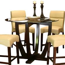 beautiful cramco adele round glass counter height table with wood counter height dining table