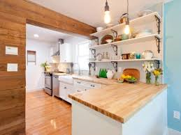 white cottage kitchen framed with reclaimed wood