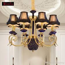 european style chandeliers living room lights modern minimalist bedroom light creative restaurant pendant lamp atmospheric brass chandeliers pendant light