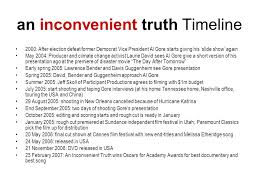 nq higher media studies media analysis non fiction ppt video an inconvenient truth timeline