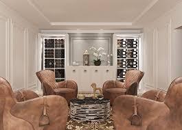 living room wine wall with grain rod
