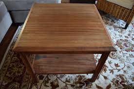 Old Coffee Table Makeovers Thrift End Table To Farmhouse Coffee Table Makeover Blesser House