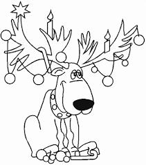 Kerst Rendier Kleurplaat Gratis Kleurplaten Printen