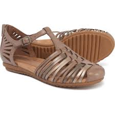 rockport cobb hill inglewood huarache sandals leather for women in khaki
