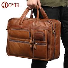 <b>JOYIR Genuine Leather Men</b> Briefcases Laptop Casual Business ...
