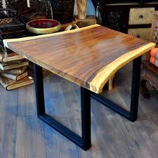 Designer Esstisch Akazie Holz Metallgestell Einzelstück