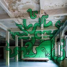 Truly Design Giant Octopus Anamorphic Graffiti By Truly Design Scene360