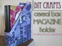 Purple Magazine Holder DIY Crafts Cereal Box Magazine Holder FeltMagnet 96