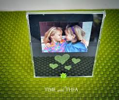 recycled cd case photo frame craft