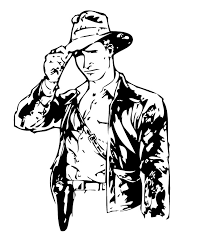 Small Picture Indiana jones with his bullwhip coloring pages Hellokidscom