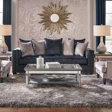 gray living room furniture. Midnight Bliss Blue Sofa \u0026 Loveseat Gray Living Room Furniture T