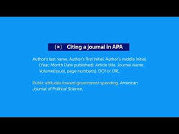 how to cite a journal in apa easybib