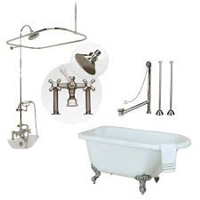 acrylic clawfoot tub and shower package chrome fixtures