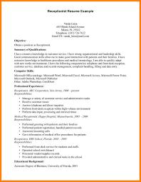 Front Desk Receptionist Resume Sample 60 front desk receptionist resume precis format 33