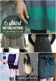 Knit Skirt Pattern Extraordinary 48 Skirt Knitting Patterns To Get Ready For Fall Just Be Crafty