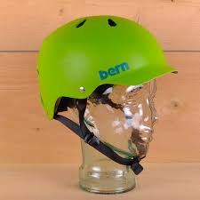 Bern Watts Eps Bright Green Hatstyle Helmet