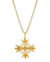 turner tatlermaltese cross filigree pendant necklace