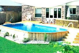 pool decks for above ground pools around in images of70