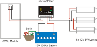 solar lighting system example wiring diagram