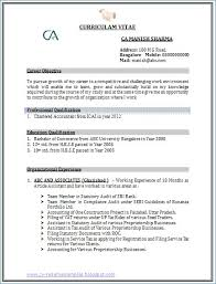 Common Resume Format Resume Example