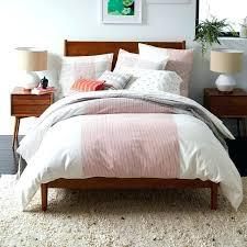 mid century modern bedding. Mid Century Modern Duvet Cover Comforter Bedding In Dominant White Solid Wood Bed Frame