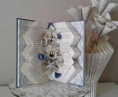 book sculpture altered book recycled book art origami flowers book page flowers book page roses book theme gift teacher gift book folding