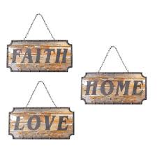 Word Signs Wall Decor Faith Love Home Word Sign Wall Decor Set of 100 89