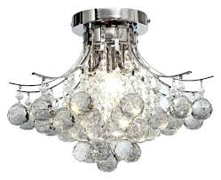 decoration diamond life modern style 3 light chrome finish crystal chandelier flush mount ceiling fixture