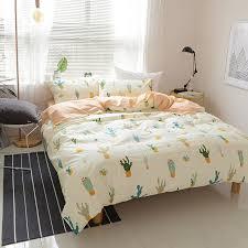 Papa&Mima Cotton Bedding Set Nordic style cactus print Bedclothes ... & Papa&Mima Cotton Bedding Set Nordic style cactus print Bedclothes Full  Queen king Size Quilt Cover Pillowcase Adamdwight.com