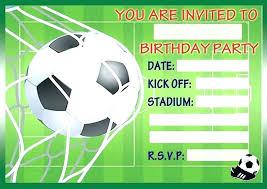 Football Invitation Template Football Invitation Templates