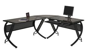 black glass l shaped computer desk l shaped computer desk black l shaped computer desk to