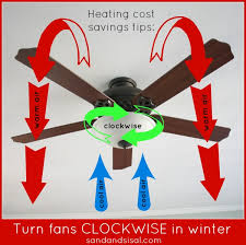 switch ceiling fan direction clockwise in the winter and counterclockwise in the summer